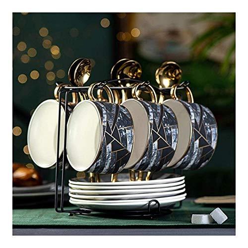 Conjunto nórdico Taza de café, de Estilo Europeo pequeñas cerámica de Lujo, Inglés té de la Tarde, Copas de Estilo Occidental y Tazas, bastidores de Uso doméstico