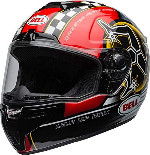 BELL Unisex Motorradhelm, Schwarz/Rot, XL