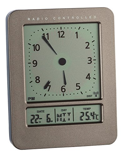 TFA Dostmann 60.2530 Funk-Wecker mit Temperatur (anthrazit)