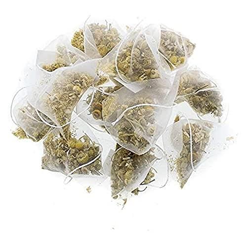 Aromas de Té - Infusión de Manzanilla Ecológica en Bolsitas/Manzanilla Pirámides con Efecto Calmante y Reparador del Aparto Digestivo, 20 Pirámides