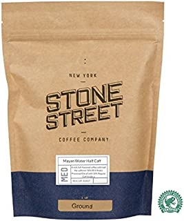 HALF CAFF Ground Coffee   1 LB Bag   Swiss Water Processed Chemical Free Decaffeination  Blend of 50% Decaf/50% Regular Caffeine   Low Acidity, Smoot