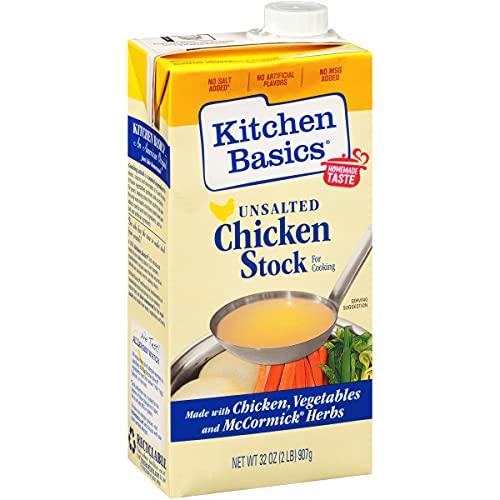 Kitchen Basics Unsalted Chicken Stock, 32 oz