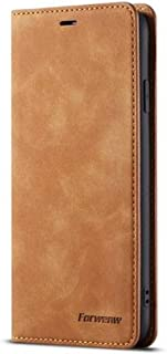 Elegant Luxury Magnetic Leather Wallet Stand Card Holder Flip Case Cover for iPhone Xs MAS & XR (Brown, iPhone Xs MAX)