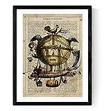 Nacnic Image à encadrer ARCA DE NOE. Affiche avec la définition de Dictionnaire...