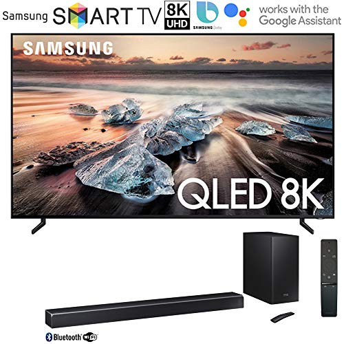 Samsung QN75Q900RB 75-inch Q900 QLED Smart 8K UHD TV (2019 Model) Bundle 370W Virtual 5.1.2-Channel Soundbar System with Wireless Subwoofer with Instant $300 Saving
