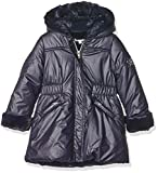 3 Pommes Girl's Free Style Coat, (Navy Blue), 7-8 Years