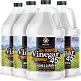 Calyptus 45% Pure Super Concentrated Vinegar   Dilutes to 36 Gallons   9x Power Cleaning Vinegar   Plant Based   Home and Outdoor   All-Purpose Cleaner, 4 Gallon