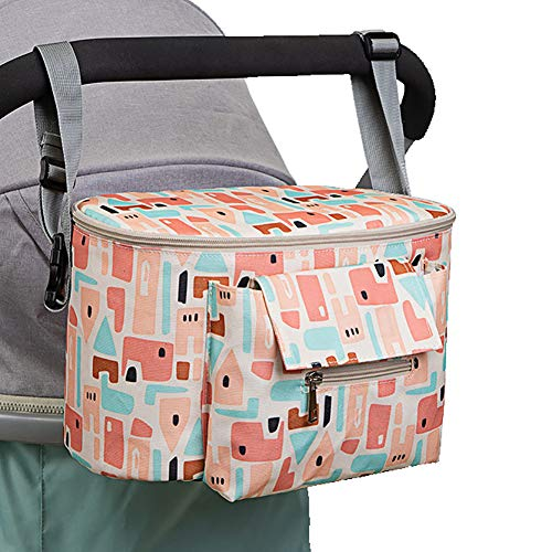 LYXCM del Cochecito de bebé, Bolso Universal Grande Impermeable del Almacenamiento del Carrito   Organizador multifunción de Productos para bebés de pañales para Viajes y excursiones,A