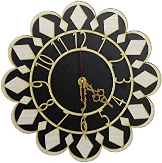 Wood Wooden Wall Clock MDF Wooden Wall Clock Attractive Design Clock Perfect for Home, Kitchen, Office, Living Room, Hall ...