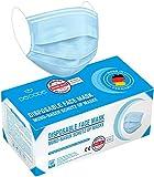 Derma-Test: Sehr Gut 50x geprüfte Masken Made IN Germany Medizinische Mundschutz Maske - TYP II BFE 98% 3-lagige Gesichtsmaske EN 14683:2019 Atemmaske Atemschutzmaske
