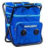 Gabba Goods Bud Light Beach/Tailgate/Picnic Chair & Insulated Cooler Bag with Built in Rechargeable Bluetooth Speaker