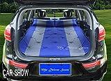 K-ONE Nuevo Auto Inflable Coche Cama Hatchback Viaje Cama Cubierta de colchón de Aire para Ibiza VW Golf 4 Ford Fiesta Focus 2 Opel Astra, Azul