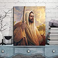 イエスキリストグレッグオルセンキャンバス絵画ウォールアートポスタープリント北欧キッズデコレーション絵男の子子供ベッドルーム装飾/ 60x80cm-フレームなし