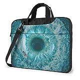 Water Nature Blue Iris Eye Bolsa de Hombro portátil para computadora portátil Funda para computadora portátil Maletín de Negocios