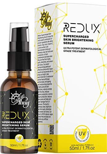 Redux Hautaufhellendes Serum - 2% Alpha-Arbutin, 1% Kojisäure - Vitamin C - Niacinamid - Süßholzextrakt für Körper - Gesicht - Natürlich und Bio - Alle Hauttypen - 50 ml