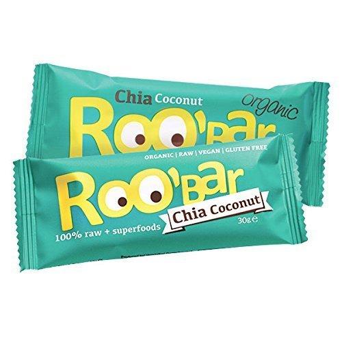 by Roo 'bar Roo 'bar Gia Coconut–20bares (20x 30g)–Raw superalimentos Bar (Organic Vegano, glutenfree, RAW)