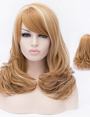 pelucas de la manière souhaitable et confortable filles de mode perruque de cheveux naturel de fil de haute température européen américain de haute qualité nécessaire