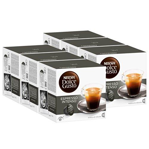 Nescafé Dolce Gusto Espresso Intenso, Paquete de 6, 6 x 16 Cápsulas