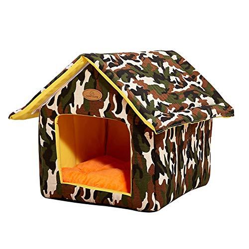 ishine Casa de gato portátil Casa de mascotas suave pequeña cama de perro refugio gato cama casa para dormir