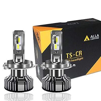 Alla Lighting 10000lm LED H4 Headlight Bulbs Extremely Super Bright TS-CR 9003 HB2 H4 LED Headlight Bulbs Conversion Kits Bulb, 6000K Xenon White