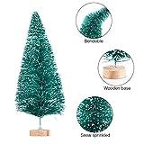 MELLIEX 60 Stück Miniatur Weihnachtsbaum Künstlicher Mini Modell Weihnachtsbaum Kunststoff Winter Ornamente für Tischdeko, DIY, Schaufenster - 4