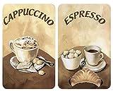 WENKO Placas cobertoras de vidrio universales Café - juego de 2 piezas para todos los tipos de cocinas, Vidrio endurecido, 30 x 2-6 x 52 cm, Multicolor