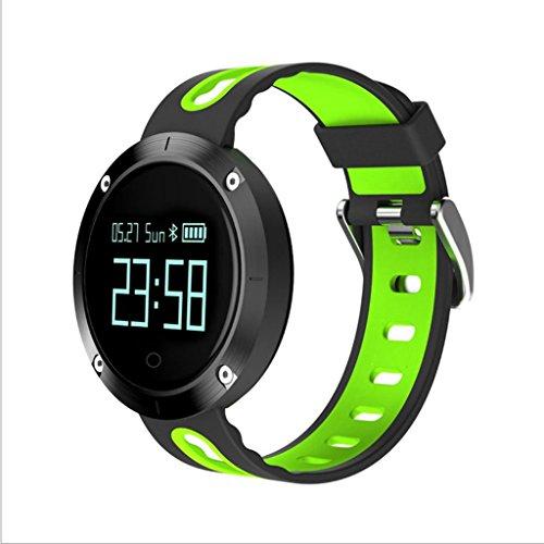 Mode Sport Smartwatch Herzfrequenz/Blutdrucküberwachung Bluetooth Schritt Informationen erinnert wasserdichte Smartwatch Verarbeitung Exquisite Gesundheitstests (Farbe: Grün)