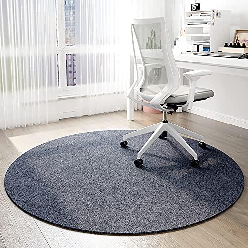 Stuhlmatte für Hartholzboden, leicht zu gleiten für Computerstuhl, runder Teppichboden Bodenschutz für Bürostudienzimmer Wohnzimmer Schlafzimmer (Size : Diameter 80cm)