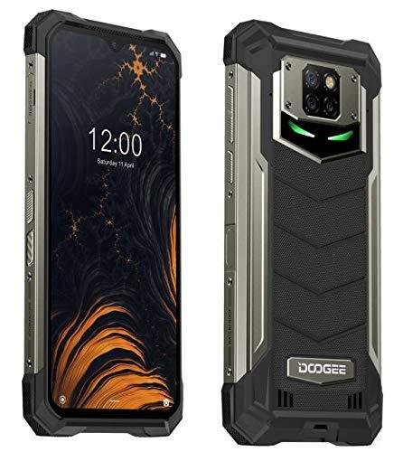 DOOGEE S88 Plus(6GB+128GB) Smartphone Resistente 10000mAh Batería, Cámara Cuatro 48MP, Octa-Core Android 10, 6.3FHD+ Corning Gorilla Glass, Carga Inalámbrica, IP68 Teléfono Móvil Antigolpes Negro
