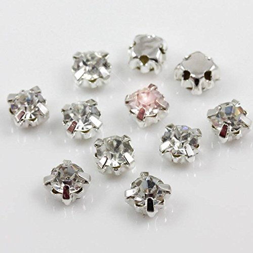 Buttons FLOWER Sewing UK SELLER!! Diamonte Gem Crystal