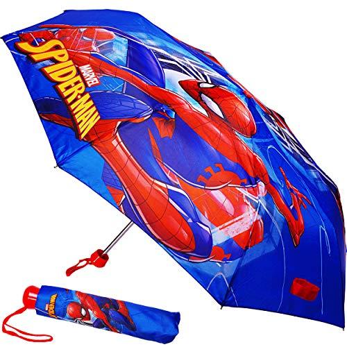 alles-meine.de GmbH Taschenschirm / Kinderschirm -  Ultimate Spider-Man - Marvel  - ø 92 cm - großer Regenschirm / Erwachsenenschirm - für Jungen / Mädchen / Frauen / Männer - ..