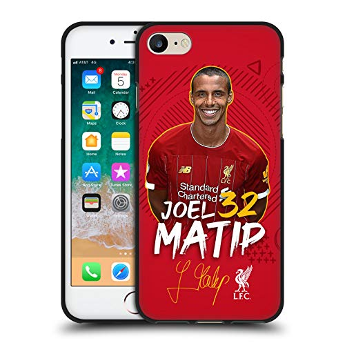 Head Case Designs Oficial Liverpool Football Club Joel Matip 2019/20 Primer Equipo Grupo 1 Funda de Gel Negro Compatible con Apple iPhone 7 / iPhone 8 / iPhone SE 2020