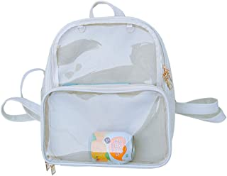 Ita Bag - Mochila con diseño de chinchetas, ventana transparente, color caramelo