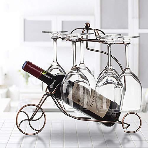 KFDQ Weinregal Weinregale Eisen Kunst Überzug Multifunktions Kreative Mode Weinschrank Dekoration Wohnzimmer Restaurant Home Praktische Weinregal