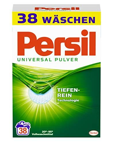 Persil Universal Pulver, Vollwaschmittel, 152 (4 x 38) Waschladungen, kraftvolle Fleckenentfernung für hygienisch reine Wäsche