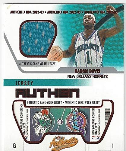Baron Davis Authentic Game Worn Memorabilia Collectible Basketball Card