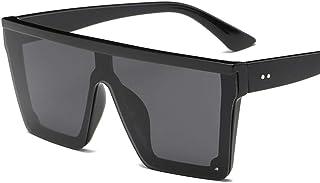 8f05c1eeda QDE Gafas de sol Gafas De Sol Superiores Planas De Gran Tamaño para Mujer  Gafas De