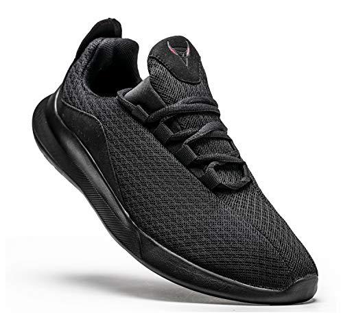 KUTHAENDO Laufschuhe Herren Running Schuhe Sportschuhe Straßenlaufschuhe Sneaker Outdoor Fitness Tennisschuhe Walkingschuhe Trainieren Turnschuhe Joggingschuhe,schwarz,9.5 UK/ 44.5