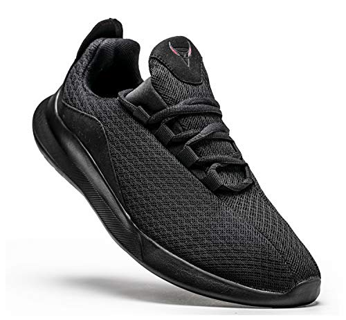 KUTHAENDO Laufschuhe Herren Running Schuhe Sportschuhe Straßenlaufschuhe Sneaker Outdoor Fitness Tennisschuhe Walkingschuhe Trainieren Turnschuhe Joggingschuhe,schwarz,11 UK/ 46