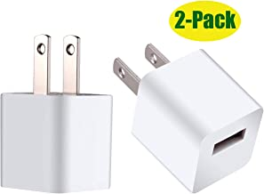 5W Wall Charger Adapter Cube for All iPhones,iPad Mini 2/3/4 Charger (2-Pack)