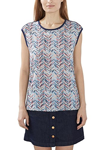 ESPRIT Collection 027eo1k014 Camiseta sin Mangas, Azul (Navy), 42 (Talla del Fabricante: X-Large) para Mujer
