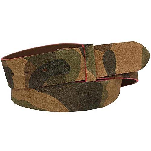 Lord of Label Ceinture bande camouflage ; Largeur 4 cm - Vert -