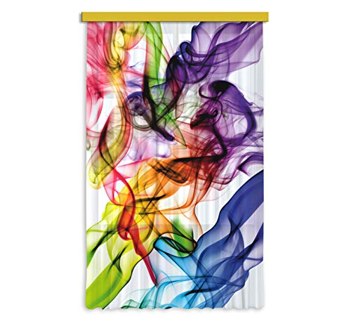 AG Design FCS L 7514 - Tendaggio Photo Print colorate fumo, 140 x 245 cm, 1 parte