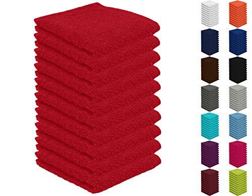 10er Pack Seiftücher, Seiflappen in vielen Farben 30x30 cm Rot 100{2a073b3669babb70ff26ca4e0427fed883ab25d47f7f538d3d5d44ab08ed0a5b} Baumwolle