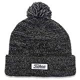 Titleist Men's Standard Pom Winter Golf Hat, Heathered Black, One Size Fits All