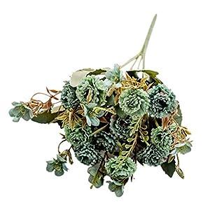 Dserw Artificial Flower,1Pc Artificial Flower Carnation Plant DIY Garden Party Home Wedding Craft Decor – Army Green