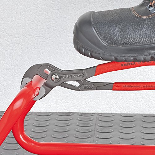Knipex Cobra – Hochleistungs-Wasserpumpenzange mit Schnelleinstellung und schlanken Mehrkomponenten-Griffhüllen, 250 mm, Rohre bis 50 mm - 5