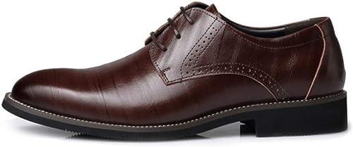 JINHAIXUE Chaussures en Cuir pour Hommes, Chaussures Formelles à Lacets