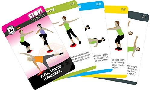 Stop! Fitness | Training der Koordination mit dem Balancekreisel | Trainingskarten Übungskarten, deutsche Version, Kartengröße 66 x 100 mm mit Kunststoffbox