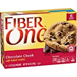 Fiber One Cookies, Soft Baked Chocolate Chunk Cookies, 1.1 Ounce, 6 Count